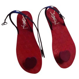 Yves Saint Laurent-Sandales-Rouge