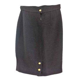 Chanel-Skirt-Black
