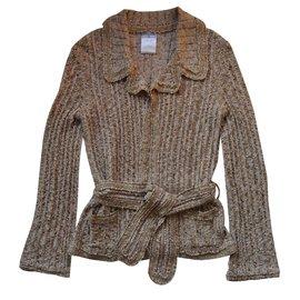 Chanel-Knitted jacket-Beige