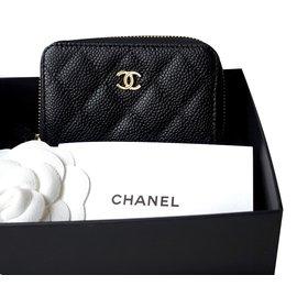 Chanel-Card holder wallet-Black