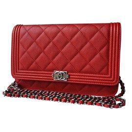 Chanel-Boy WOC-Red