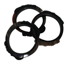 Chanel-Bracelets rigides-Marron,Noir,Gris