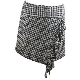Chanel-Houndstooth Skirt-Black,White