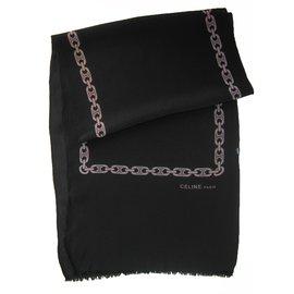 Céline-Long scarf-Black