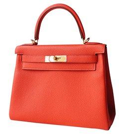 Hermès-Kelly 28-Red
