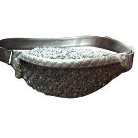 Chanel-Clutch bag-Silvery