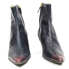 Céline-Ankle Boots-Blue