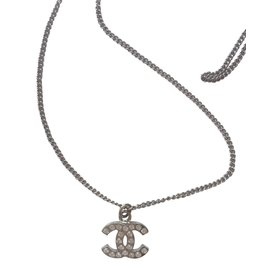 Chanel-Necklace-Silvery