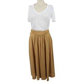 Chloé-Long Skirt-Caramel