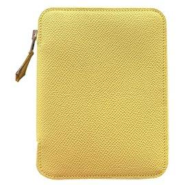 Hermès-Diary cover-Yellow