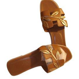 Hermès-Sandals-Brown