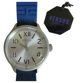Versace-Quartz Watch-Silvery