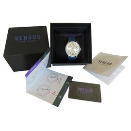 Versace-Quartz Uhr-Silber