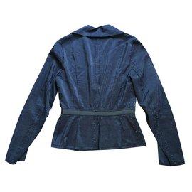 Lanvin-Veste cintrée-Bleu