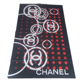Chanel-Pareo coton-Noir