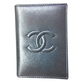Chanel-Chanel card holder-Silvery