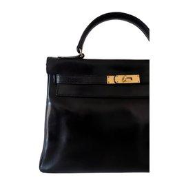 Hermès-KELLY 32 VINTAGE-Black