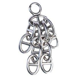 Hermès-Pendant necklace charm-Silvery