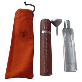 Hermès-vaporisateur nomade cuir swift rechargeable NEUF-Caramel