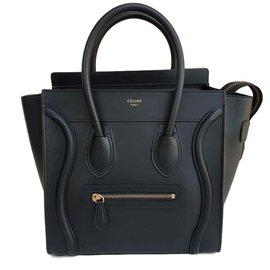 Céline-Luggage Micro-Black