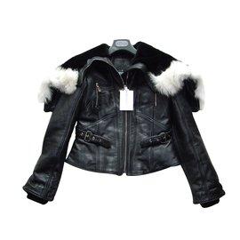 Alexander Mcqueen-Leather jacket-Black