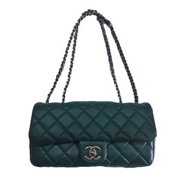 Chanel-Classic single flap-Green
