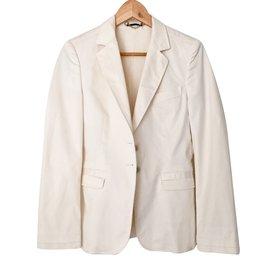 Gucci-Veste blazer-Blanc