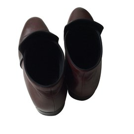 Céline-Ankle Boots-Dark red