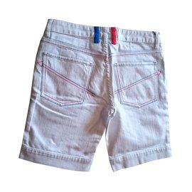 Jc De Castelbajac-Short long-Blanc