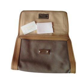 Chloé-Clutch bag-Beige
