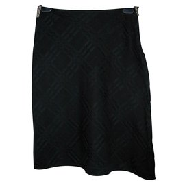 Burberry-Burberry asymmetric skirt-Black