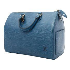 Louis Vuitton-Handbag-Blue