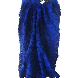 Maje-Skirt-Blue