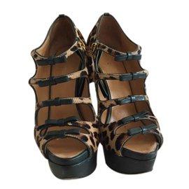 Dsquared2-Printed leopard heels-Leopard print