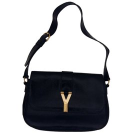 Yves Saint Laurent-CHYC Flap Bag Black-Black