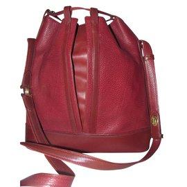 Cartier-Seal handbag-Dark red