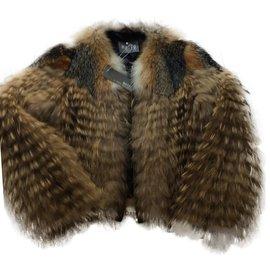 Yves Salomon-Fur Jacket fox and marmot-Grey