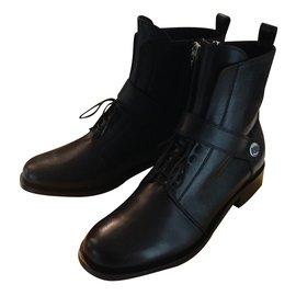 Fendi-Bottes motardes-Noir