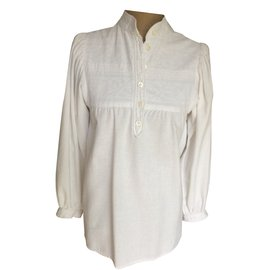 Yves Saint Laurent-Blouse-Blanc