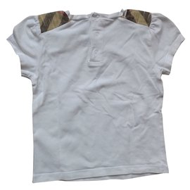 Burberry-Girls Tee-White