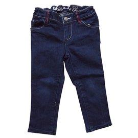 Guess-Pantalon fille-Bleu