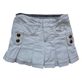Guess-Jupes fille-Blanc