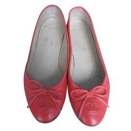 Chanel-Ballerines-Rose
