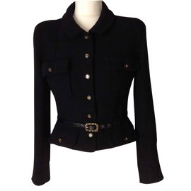 Chanel-Petite veste noire-Noir