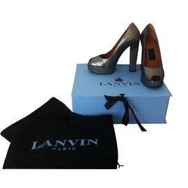 Lanvin-Escarpins-Argenté