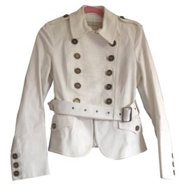 Burberry-Military jacket-White