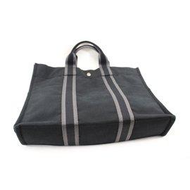 Hermès-Cabas Toto GM-Noir