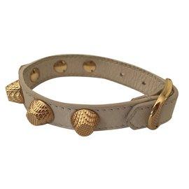 Balenciaga-Giant Bracelet Stud Or-Beige