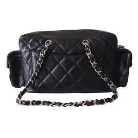 Chanel-Sac cambon reporter noir-Noir