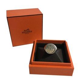 Hermès-Ex Libris ring-Silvery